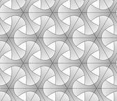 Monochrome gradually striped tetrapods and grid — Stock Vector