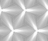 Monochrome gradually striped three ray stars — Stock Vector