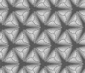 Monochrome gradually striped three pedal flowers — Stock Vector