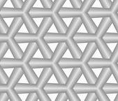 Monochrome gray striped tetrapods — Stock Vector