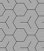 Monochrome hexagons and tetrapods — Stock Vector