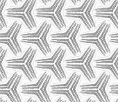 Monochrome rough striped small tetrapods — Stock Vector