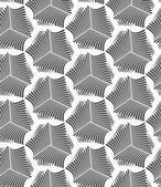 Monochrome striped sea shells — Stock Vector