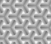 Slim gray halftone striped tetrapods — Stock Vector