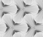 Slim gray hatched trefoil flower — Vector de stock