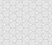 Slim gray wavy textured tetrapods — Stock Vector