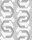 Perforated paper with broken hexagons — Stock Vector