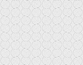 Gray merging Archimedean spirals on continues lines — 图库矢量图片