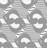 Perforated abstract swirly waves — Cтоковый вектор