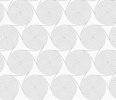 Slim gray merging spirals with triangles — Wektor stockowy