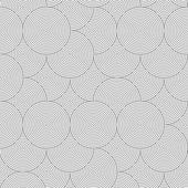 Slim gray striped overlapped circles random — Wektor stockowy