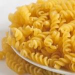 Dried italian pasta (macaroni) isolated on white background — Stock Photo #52262019