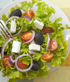 Greek salad close up — Stock Photo