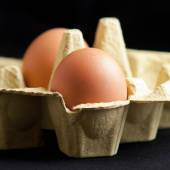 Eggs in a package — Stock Photo