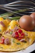 Omlette with ham — Foto de Stock