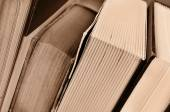 Books, in sepia tone — Stock Photo