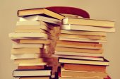 Books, with a retro effect — Stock Photo