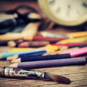 Artist studio — Stock Photo