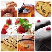 Dessert collage — Stock Photo