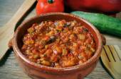 Spanish pisto, a typical vegetables stew — Stock Photo