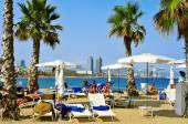 Sant Sebastia Beach, in Barcelona, Spain — Stock Photo