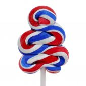 Lollipop with the colors of the flag of the United States — Foto Stock