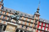 Náměstí plaza mayor v madridu, španělsko — Stock fotografie
