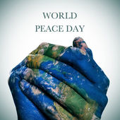 World peace day (Earth map furnished by NASA) — Stock Photo