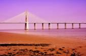 Vasco da Gama Bridge in Lisbon, Portugal — Stock Photo