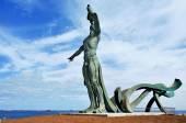 Sculpture Exordio del Triton in Punta del Palo in Las Palmas de  — Stock Photo