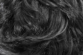 Closeup of black hair — Stock Photo