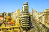 Gran Via in Madrid, Spain — Zdjęcie stockowe