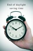 End of daylight saving time — 图库照片