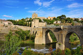 Tagus river passing through Toledo, Spain — Stock Photo