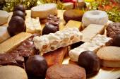 Turron, mantecados and polvorones, typical christmas sweets in S — Foto Stock