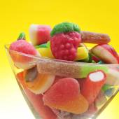 Candies in a glass — Stock Photo