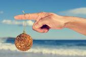 Christmas on the beach — Stock Photo