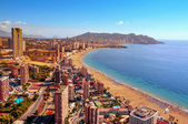 Aerial view of Benidorm, Spain — Stock Photo