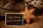 God bless your dreams — Stock Photo