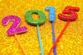 Glittering numbers forming the number 2015, as the new year — Stock Photo