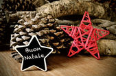 Buon natale, vrolijk kerstfeest in het Italiaans — Stockfoto