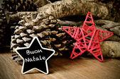 Buon natale, merry christmas in italian — Stock Photo