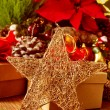 Christmas star on a christmas table — 图库照片 #59659991