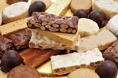 Turron, polvorones and mantecados, typical christmas confections — Stock Photo