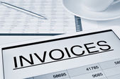 Checking the invoices — Stock Photo
