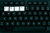 2015, as the new year, in a keyboard — Stock Photo