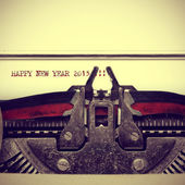 Happy new year 2015 written with an old typewriter — Stock Photo