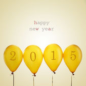Happy new year 2015, with a retro effect — Stock Photo