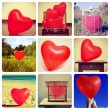 Collage of pictures of heart-shaped balloons — Stock Photo #62144723