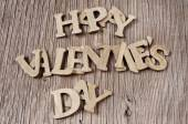 Letters forming the sentence happy valentines day — Stock Photo